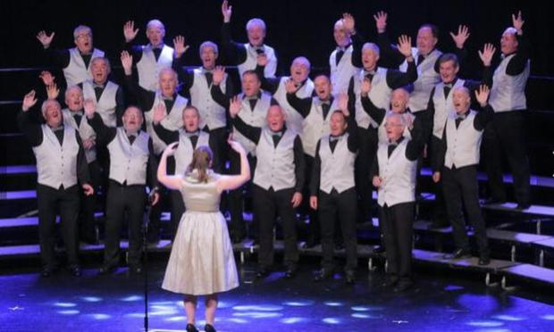 Sligo barbershop group Tone Cold Sober with director Ailbhe Hayes competing at the IABS (Irish Association of Barbershop Singers) National Convention in the Gleneagle Hotel recently. The group won Silver at the competition