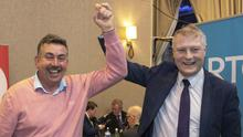 Councillor Thomas Healy seen here with party colleague Martin Kenny TD