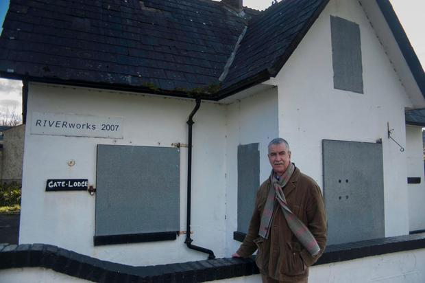 Cllr Declan Bree pictured outside the Gate Lodge at Doorly Park in 2014.
