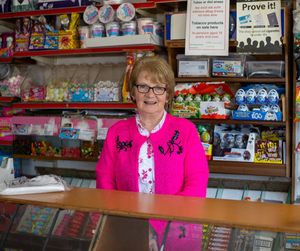 Margaret Kennedy in her well-known South Sligo sweetshop