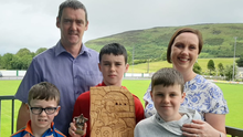 Evan O'Gara (centre) with his family