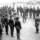 The Black and Tans preparing to leave a barracks Ireland,1922