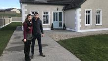 Dyann Kilawee and Gary Cawley pictured outside their home in Enniscrone