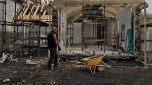 The re-build of the Connolly home is well underway