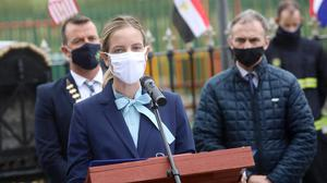 Grace Lange, Economic Adviser, US Embassy speaking at the 9/11 20th anniversary Commemoration in Ballymote last Saturday.