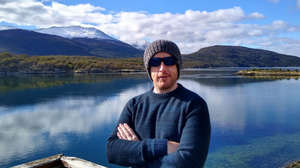 Eamonn pictured in Ushuia, the southernmost point of Argentina.