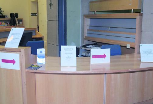 Customer service desk at Sligo City Hall
