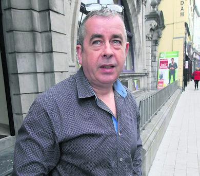 Eamon Cunningham on Grattan Street.