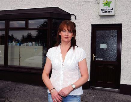 Yvette Gilmartin pictured outside her shop in Doorly Park which has now closed.