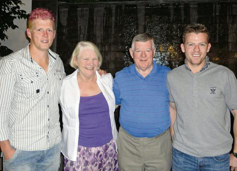 Cricket family, Kevin, Camilla, who hails from Sligo, Brendan and Niall O'Brien.