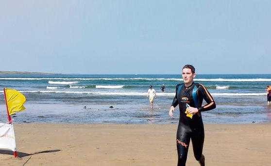 Matthew McGarrigle, second in the wetsuit category.