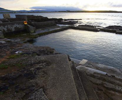 Deadman's Point, Rosses Point, where the outdoor swimming pool is in need of repair.