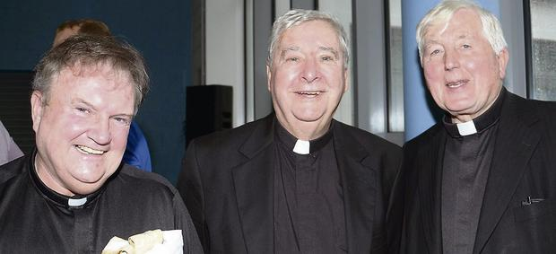Fr. Aidan Hynes and Fr. Michael Devine both home from the U.S.A. and Bishop Christy Jones