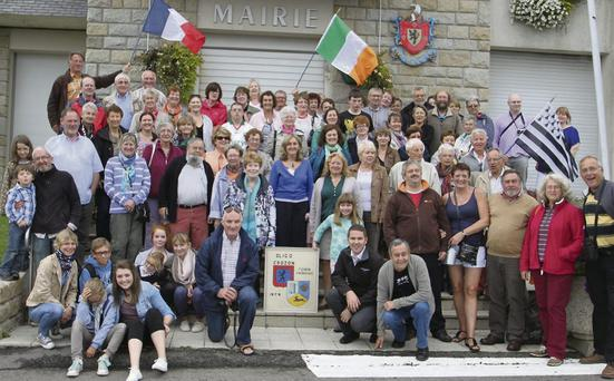 The Sligo group pictured outside Crozon La Marie, the town hall, on their recent visit to the French town of Crozon.