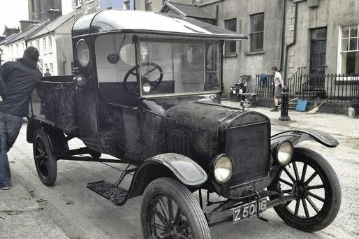 One of the old cars from the 1930s used on the set of the new Ken Loach film Jimmy's Hall, which was filmed in Sligo and Leitrim over the last number of weeks. This picture was originally posted on Twitter by Sligo Tourism.
