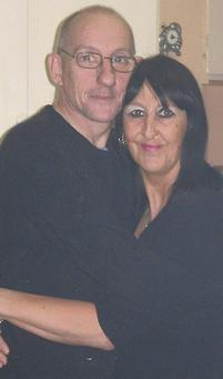 The late Trevor Wallwork with his wife Susie.
