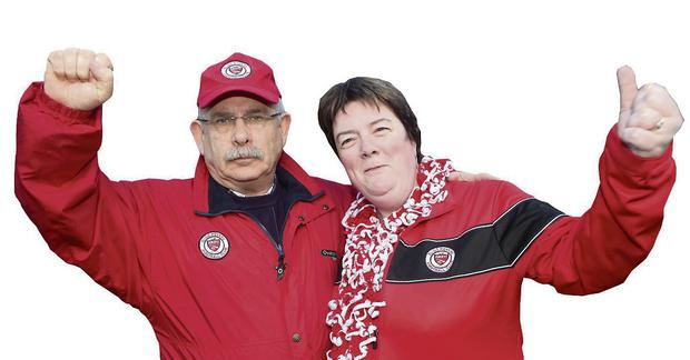 Pat and Mary Kelly pictured outside the Aviva Stadium last Sunday