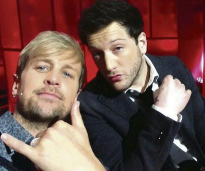 King of the Jungle Kian with Matt Cardle.