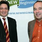Barrister Vincent P Martin and psychologist Shane Martin who spoke at the New Beginning seminar on debt in Sligo