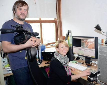 Mark and Caroline Minshall of Pink Line Video Productions.