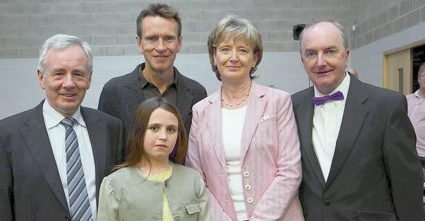 Tommy McManus, Principal of Summerhill College; Oliver and Molly Peyton; Margaret Dowd, Deputy Principal Summerhill College; and Tommy Gorman.