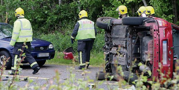 Car accident near on the Dual Carraigeway near the Carraroe roundabout