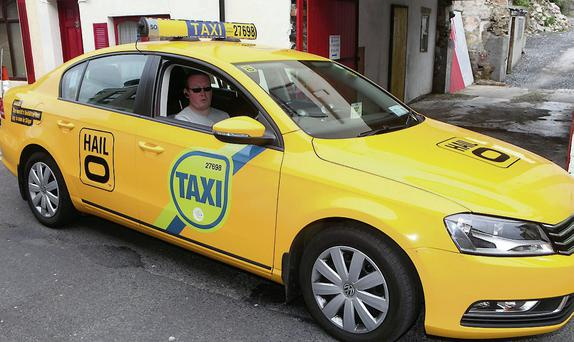 Sligo taxi driver Peter Finnegan in a new 'Hailo' taxi.
