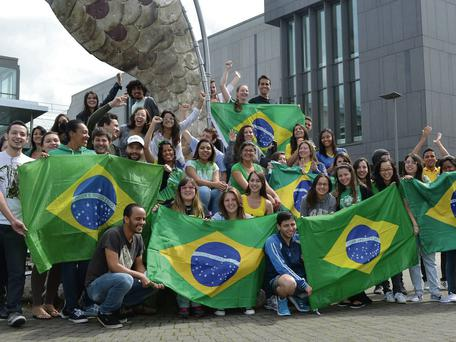 Samba beat at IT Sligo. Brazilian students in Sligo get into the World Cup mood
