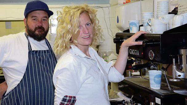 Myles and Jane Lamberth of Shells Cafe in Strandhill, which is one of six Sligo eateries vying for awards at the Irish Restaurant Awards in Dublin next week.