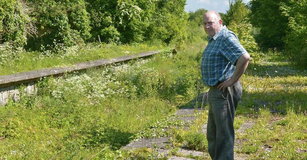 James Leonard at the unused railway line he wants to see turned into a greenway.