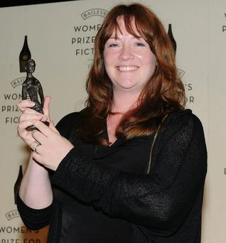 Eimear mcBride receiving her award for her debut novel at the Royal Festival Hall in London last week.