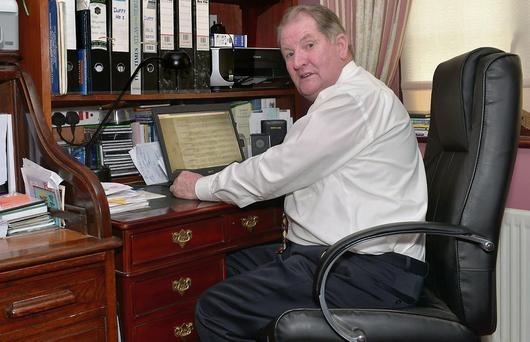 Owen Duffy, Ballymote, who did genealogical research at his home to help an Australian family trace their South Sligo roots.