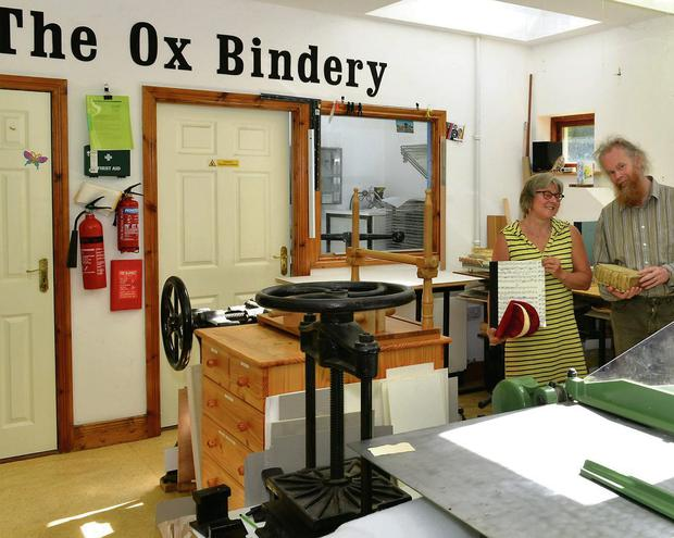 Benjamin Van de Wetering and Ineke Scholte who run the Ox Bindery.