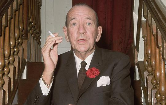 Noel Coward...Noel Coward (1899 - 1973) at the Royal Film premiere of 'Born Free' at the Odeon, Leicester Square. (Photo by Central Press/Getty Images)...