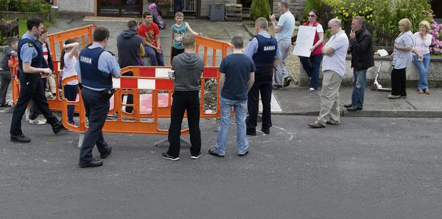 Cranmore residents face up to Irish Water workers