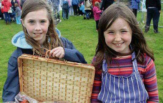 Caoimhe Gillespie and Eimear Cannon at the North Sligo Agricultural Show in Grange last Saturday