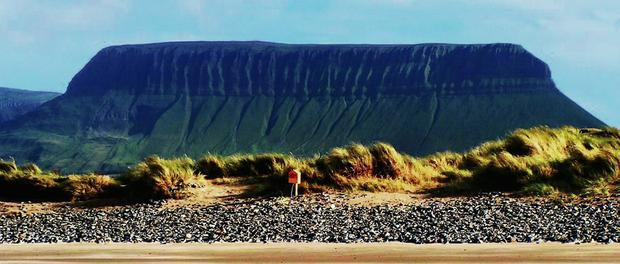 Sligo's scenery, such as Ben Bulben, is attracting more international tourists, according to a recent survey from the CSO; right: Martina Kerr Bromley of Failte Ireland North West.