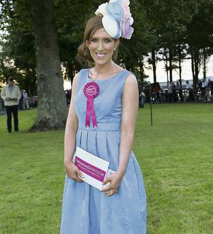 Louise Gallagher, winner of the Best Dressed Lady competition at Sligo Races last week.