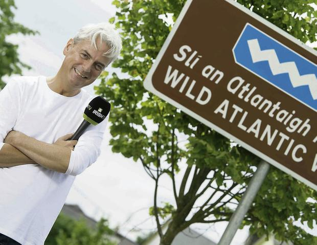 Dave Kenny who is fronting a new travel series that features Sligo which will be aired in October