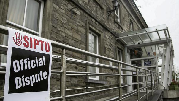 Trains didn't run from MacDiarmada Station in Sligo on Sunday and Monday due to strike action