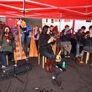 Live traditional music at half time in the Showgrounds last Saturday evening