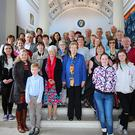 The Sligo group who meet up regularly to converse through Irish are pictured at Aras an Uachtaran