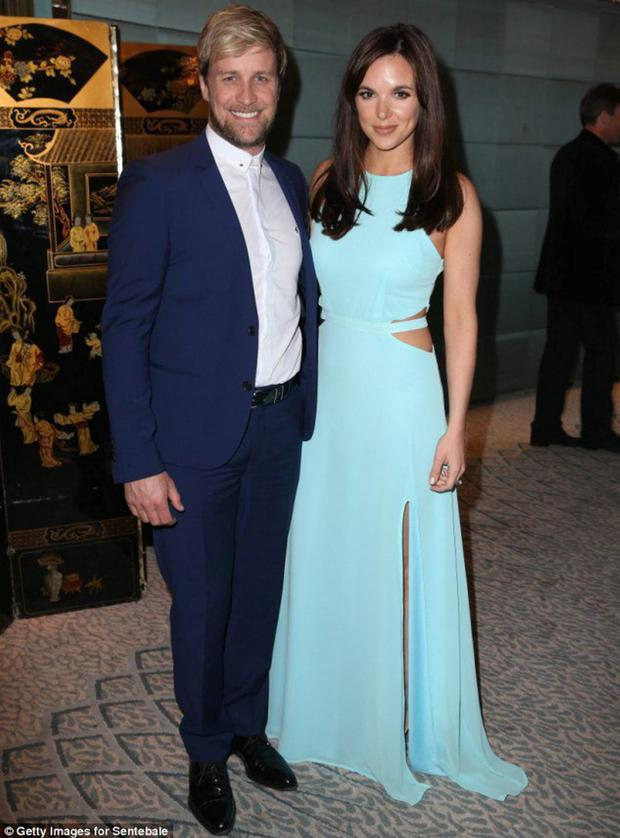 Jodi Albert with husband Kian Egan and at an event in the Dorchester Hotel in London, hosted by Prince Harry