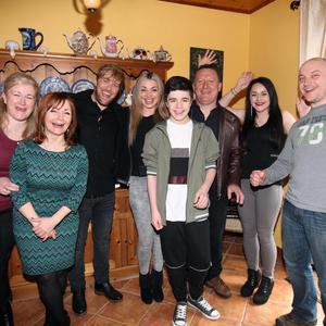 Kelesa Mulcahy and Kian Egan, pictured with Kelesa's family in Cartron