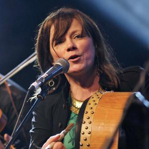 Cathy Jordan of Dervish performing at the Music Rising Concert in the Stephen's Street Car park last Sunday evening