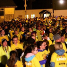 Walkers gathered before the start of the Banada Darkness into Light last Saturday morning