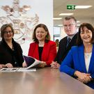 Members of the working group which developed the new BA (Hons) in Insurance Practice Apprenticeship Programme at IT Sligo: (L-R) Dr Michael Barrett (IT Sligo), Susan Naughton (Irish Brokers Association), Paula Hodson (The Insurance Institute), Michael Horan (Insurance Ireland) and Sandra Harvey-Graham (The Insurance Institute). Companies will begin recruiting for apprentices in June. Minimum entry requirements include two honours in the Leaving Cert, including a pass in English/Irish and Maths. Further details can be found on The Insurance Institute's website at iii.ie/apprenticeships