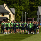 The Republic of Ireland squad with manager Martin O'Neill at training in Fota Island, Cork. Pic: David Maher/Sportsfile