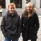 Laura Gaynor and brother Robert at the Galway Film Fleadh