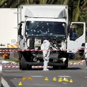 The truck which was used to mow people down in Nice, killing 84 people and injuring hundreds on Bastille Day